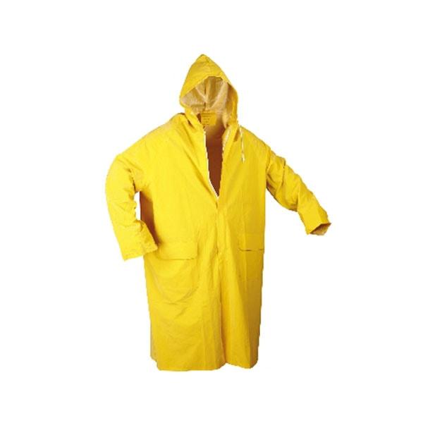 0,25 MM Sarı Uzun Astarsız Yağmurluk