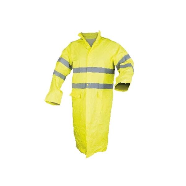 0,32 MM Sarı Uzun Astarlı Reflektörlü Yağmurluk
