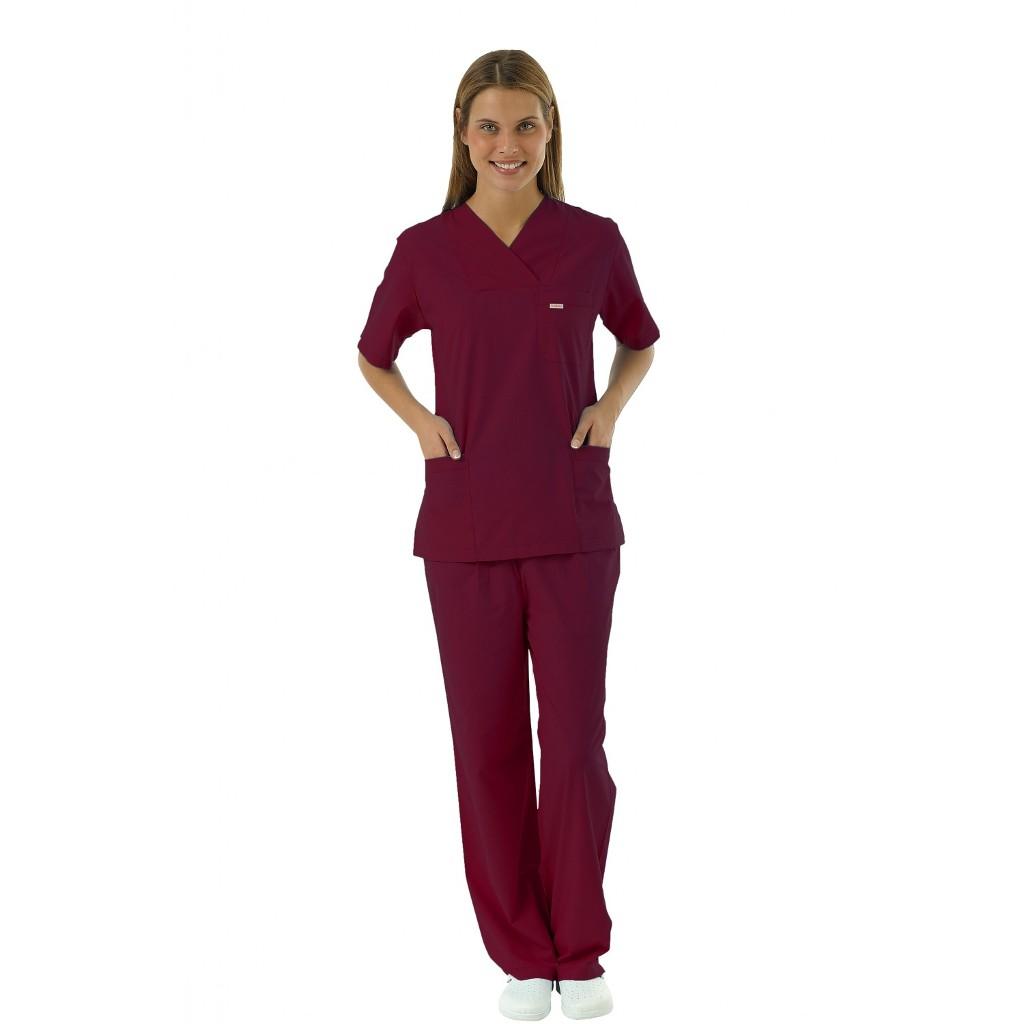 Bordo Terikoton Doktor Hemşire Forması Nöbet TakımıBordo Terikoton Doktor Hemşire Forması Nöbet Takımı