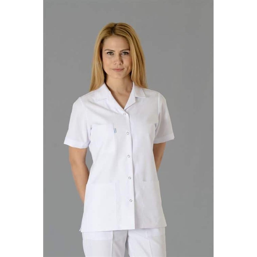 Doktor Ceket - Beyaz Kısa Önlük Bayan