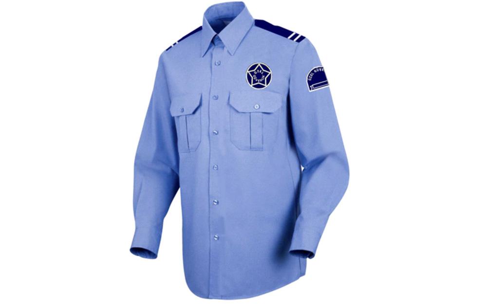 Uzun Kollu Güvenlik Gömlek Mavi