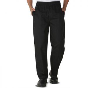 Lastikli Şef Aşçı Pantolonu - Siyah