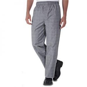 Lastikli Şef Aşçı Pantolonu - Sepet Desen