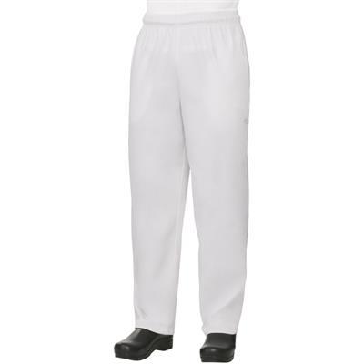 Lastikli Şef Aşçı Pantolonu - Beyaz